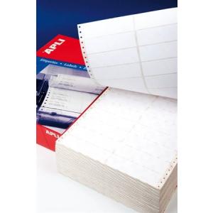 APLI Etikett, mátrixnyomtatókhoz, 1 pályás, 73,7x36 mm, APLI, 4000 etikett/csomag