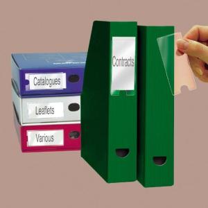 Címketartó zseb, 25x102 mm, öntapadó, 3L