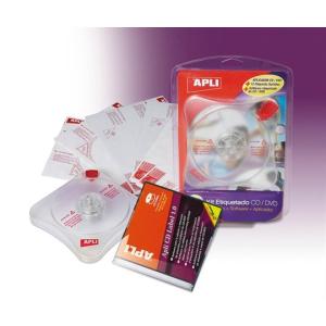 APLI CD/DVD címkeillesztő készlet, APLI