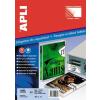 APLI Etikett, 40 mm kör, biztonsági, kerekített sarkú, APLI, 240 etikett/csomag