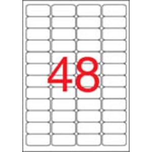 APLI Etikett, 45,7x21,2 mm, biztonsági, kerekített sarkú, APLI, 480 etikett/csomag
