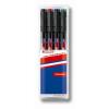 """EDDING Alkoholos marker készlet, OHP, 1 mm,  """"142 M"""", 4 különböző szín"""