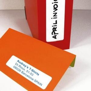 APLI Etikett, 49x100 mm, kerekített sarkú, A5 hordozón, APLI, 90 etikett/csomag