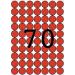 APLI Etikett, 19 mm kör, színes, A5 hordozón, APLI, piros, 560 etikett/csomag
