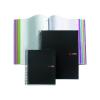 """MIQUELRIUS Spirálfüzet, A4, vonalas, 200 lap, MIQUELRIUS """"Note Book 8"""", fekete"""