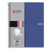 """MIQUELRIUS Spirálfüzet, A4, kockás, 150 lap, MIQUELRIUS """"Note Book 6"""", kék"""