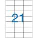 VICTORIA Etikett, univerzális, 70x42,4 mm, VICTORIA, 2100 etikett/csomag