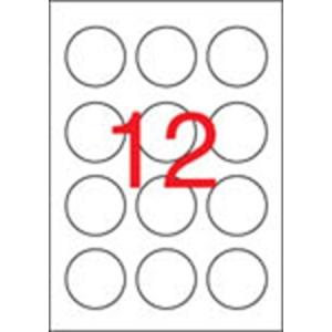 APLI Etikett, 60 mm kör, APLI, 1200 etikett/csomag