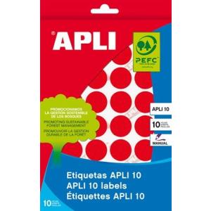 APLI Etikett, 16 mm kör, kézzel írható, színes, APLI, kék, 432 etikett/csomag