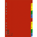 DONAU Regiszter, műanyag, A4, 1-10, DONAU, színes