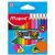 MAPED Color`Peps Mini színes ceruza készlet, háromszögletű, 12 különböző szín