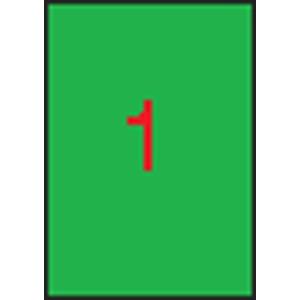 APLI Etikett, 210x297 mm, színes, APLI, neon zöld, 100 etikett/csomag