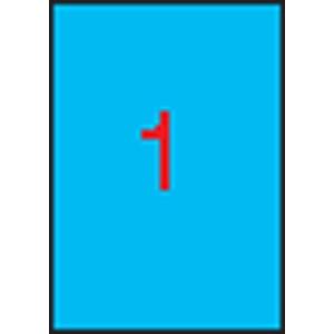 APLI Etikett, 210x297 mm, színes, APLI, kék, 20 etikett/csomag