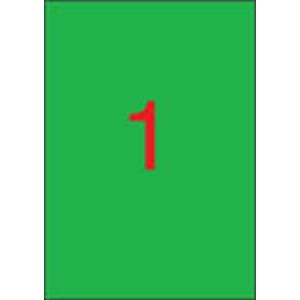 APLI Etikett, 210x297 mm, színes, APLI, zöld, 100 etikett/csomag
