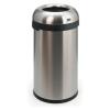 VEPA BINS Nyitott tetejű szemetes, rozsdamentes acél, 60 l, VEPA BINS, ezüst