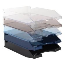 VICTORIA Irattálca, műanyag, VICTORIA, áttetsző füstszínű irattálca