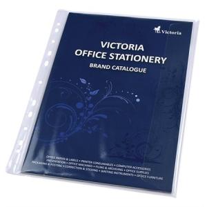 VICTORIA Genotherm, lefűzhető, oldalán hajtófüllel, A4, 150 mikron, víztiszta, VICTORIA