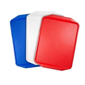 . Műanyag tálca, 43x28 cm, piros