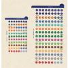 FILOFAX Kalendárium betét, öntapadó szervezőcímke, nagy FILOFAX, színes
