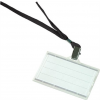 DONAU Azonosítókártya tartó, fekete nyakba akasztóval, 88x54 mm, műanyag, DONAU
