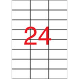APLI Etikett, 70x37 mm, poliészter, APLI, átlátszó, 240 etikett/csomag