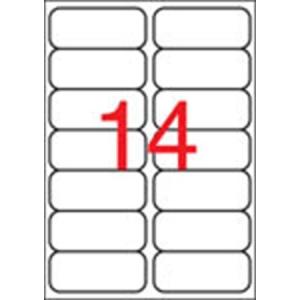 APLI Etikett, 99,1x38,1 mm, poliészter, kerekített sarkú, APLI, átlátszó, 140 etikett/csomag