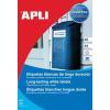 APLI Etikett, 64,6x33,8 mm, poliészter, időjárásálló, APLI, 480 etikett/csomag