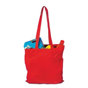 . Bevásárlótáska, vászon, 38x42 cm, piros