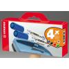 STABILO Táblamarker készlet, 2,5-3,5 mm, kúpos, törlőszivaccsal, STABILO