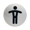 Bemutató tábla Durable pictogramm 83 mm férfi WC