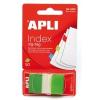 APLI műanyag jelölőcímke, 50 lap, 25x45 mm, zöld