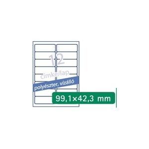 Etikett 4776 99,1x42,3mm 20ív polieszter vízálló A