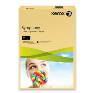 Xerox Symphony színes másolópapír, A4, 160 g, vajszín (közép) 500 lap/csomag