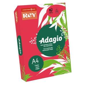 REY Adagio színes másolópapír, intenzív piros, A4, 80 g, 500 lap/csomag