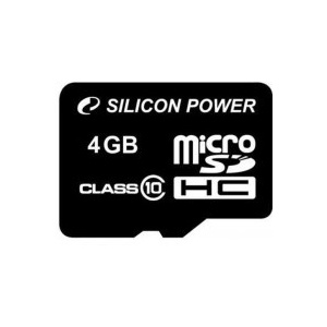 Silicon Power MICRO SDHC CARD 4GB CL10 Adapter nélküli
