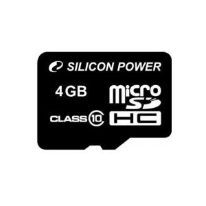 Silicon Power MICRO SDHC CARD 4GB CL10 Adapter nélküli