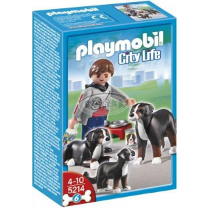 Playmobil Kutyasétáltatás-Berni pásztorkutyák - 5214