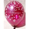 . Léggömb, esküvői, 30 cm, bordó