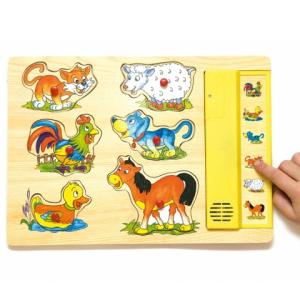 Woodyland Barátságos állathangok fapuzzle