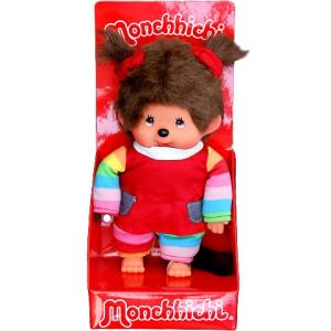 Moncsicsi szivárvány ruhás lány baba 20cm