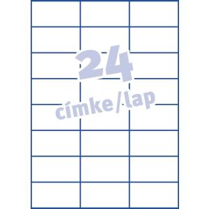 Avery Etikett -L4773-20- 63,5x33,9mm FEHÉR AVERY <20lap/dob>