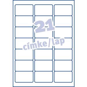 Avery Etikett -J8160-25- 63,5x38,1mm FEHÉR AVERY <25lap/dob>