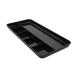 NO NAME rószertartó-68780101- fekvő 6részes 250x120x16mm fekete PEN TRAY