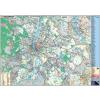 Stiefel Térkép -Budapest- fémkeretes fali 140x100cm STIEFEL