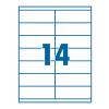 SilverBall Etikett 105x41mm 14címke/lap SilverBall <100lap/dob>