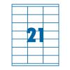 SilverBall Etikett 70x42,3mm 21címke/lap SilverBall <100lap/dob>