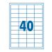 SilverBall Etikett 48,5x25,4mm 44címke/lap SilverBall <100lap/dob>
