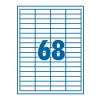 SilverBall Etikett 48,5x16,9mm 68címke/lap SilverBall <100lap/dob>