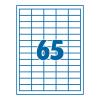 SilverBall Etikett 38,1x21,2mm 65címke/lap SilverBall <100lap/dob>