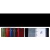 P+P Névjegytartó -6-324- gyűrűs, regiszteres 80 férőhelyes PIROS P+P